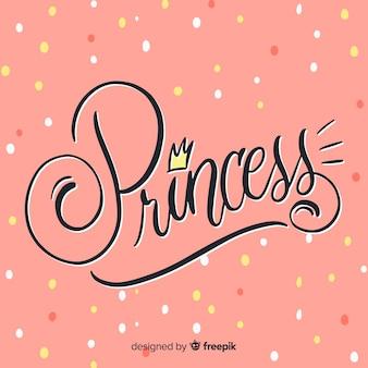 Princess lettering background