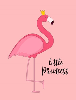 Princess pink flamingo
