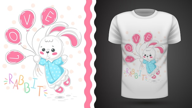 Princess rabbit - idea for print t-shirt