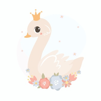 Принцесса-лебедь с короной