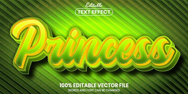 Princess text, font style editable text effect