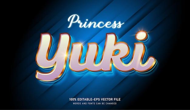 プリンセスユキテキスト効果編集可能なフォント