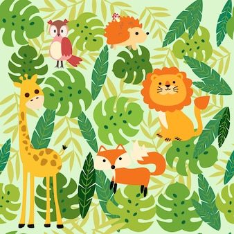 Print animal jungle pattern
