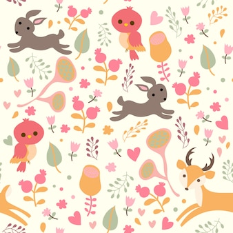 Print animal wood pattern