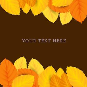 Print autumn mapple leaves with orange background