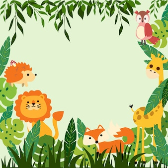 Print baby jungle frame