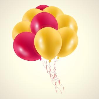 Print ballons golden pink