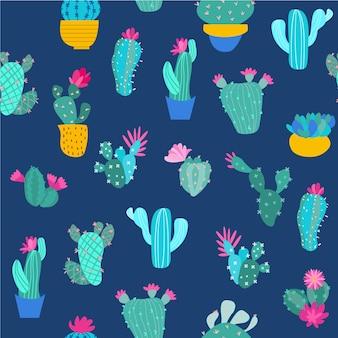 Print cactus seamless pattern