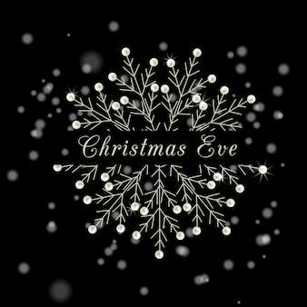 Печать рождественские каникулы снежинки праздник векторные иллюстрации