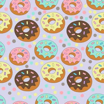 Print colorful donut
