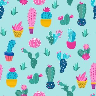 Print colorful patrern cactus