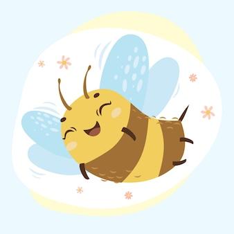 かわいい蜂を印刷