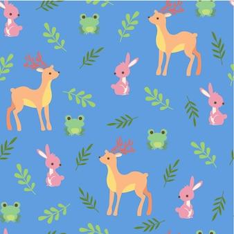 Print deer seamless pattern