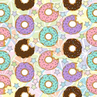 Print doughnut pattern