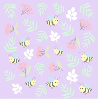 Печать цветочной пчелы