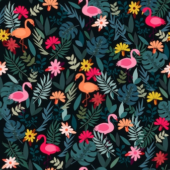 Print forest flamingo