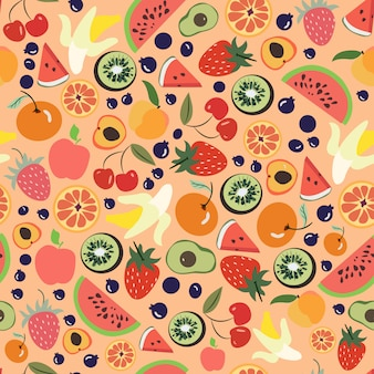 Print fruit pattern