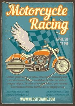 Print of a motorcycle racing