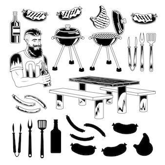 Печать набора барбекю