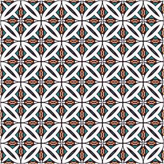 シームレスパターン装飾スタイルのプリント