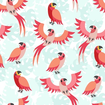 Print parrot red