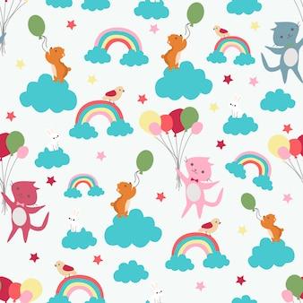 Print rainbow cat