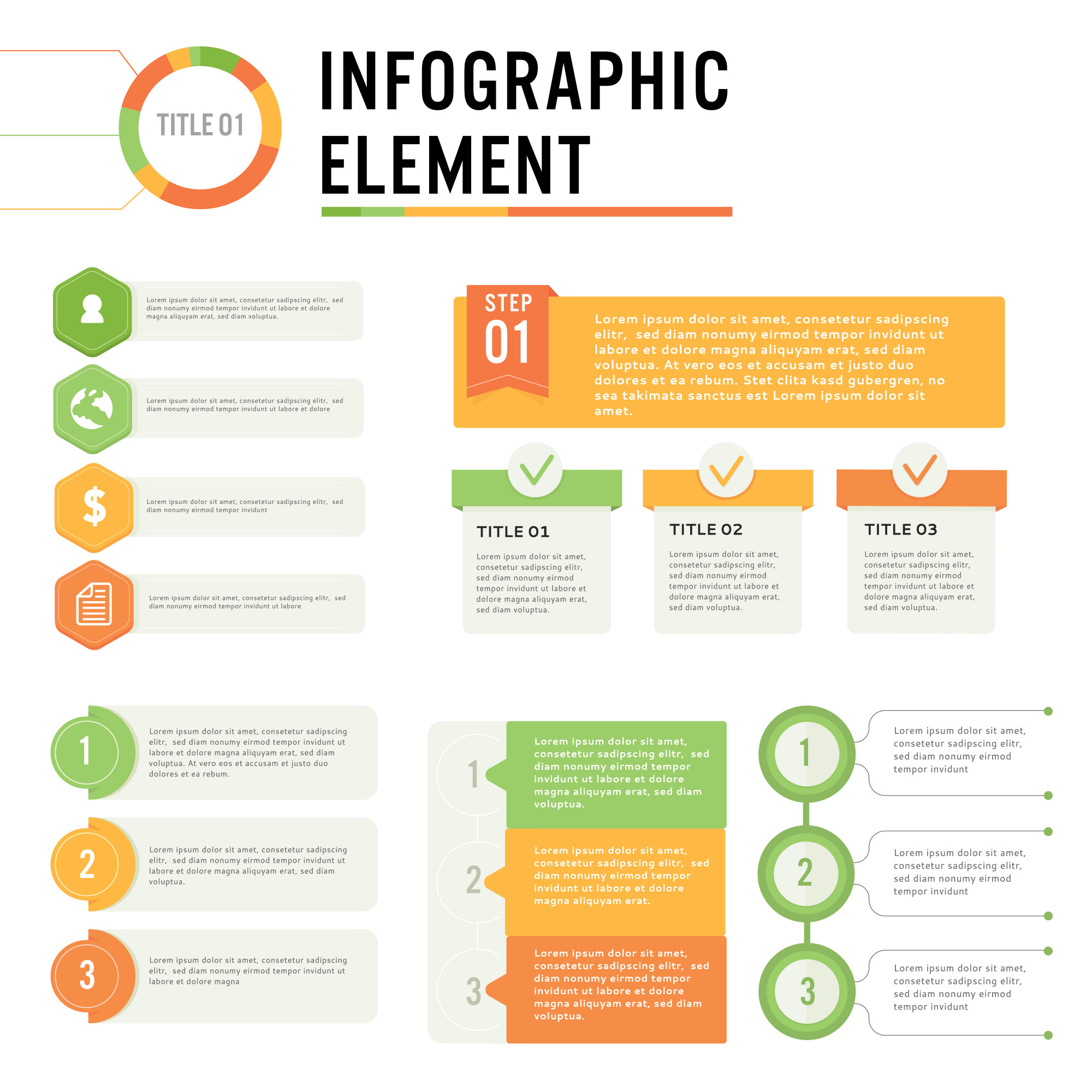 Print vector illustration infographic element