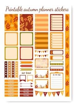 Наклейки-планировщики для печати на осень