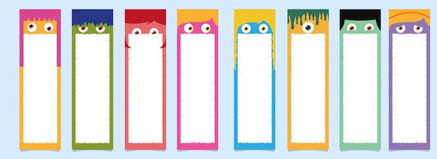 Printable bookmarks set.