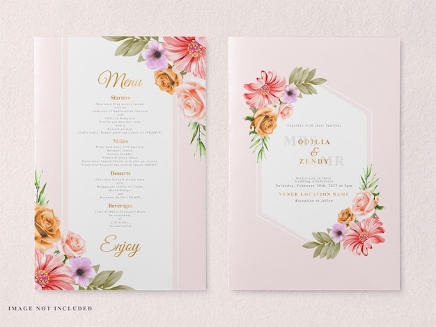 Printable and elegant wedding invitation card template