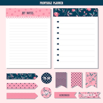 Printable planner and sticker collection