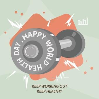 Printbarbel happy world health day