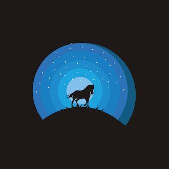 Печатькреативные концепции дизайна лошади