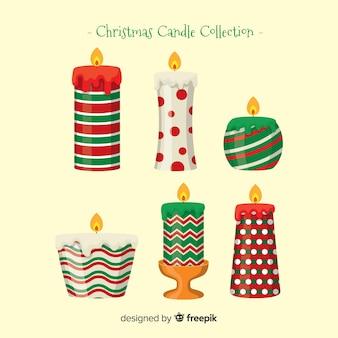 Printed christmas candle collection