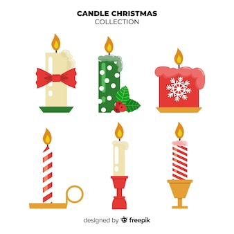 Printed christmas candle collection
