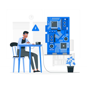 Printed circuit board concept illustration