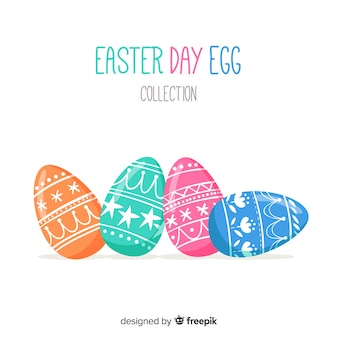 Printed eggs easter background