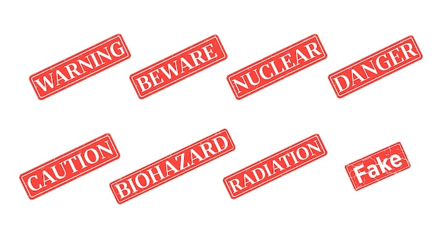 Printed warning sings