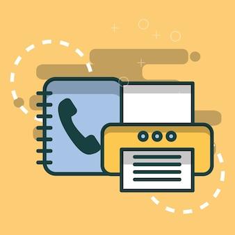 프린터 및 전화 번호부