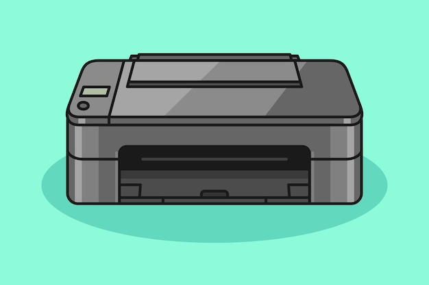 Printer cartoon illustration