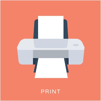 Printer Flat Vector Icon