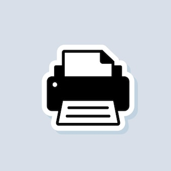 Printer sticker. fax icon. fax logo. vector on isolated background. eps 10.