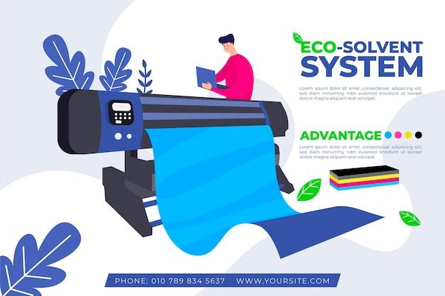 인쇄 산업 평면 디자인 일러스트 레이션