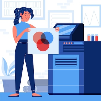 Printing industry illustration