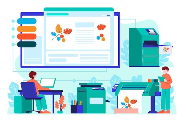 Printing industry illustration