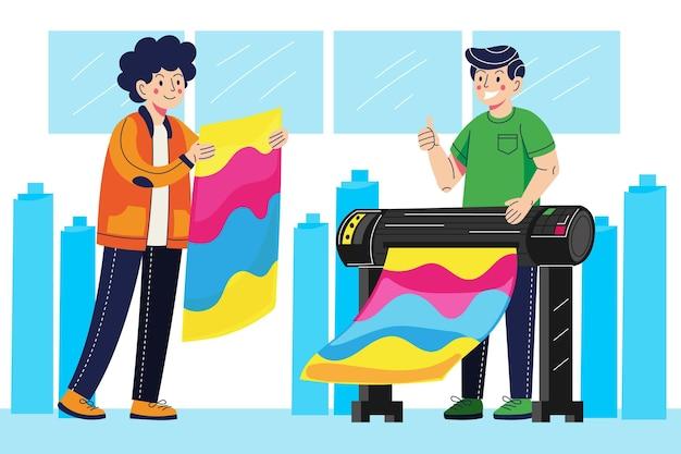 인쇄 산업 그림