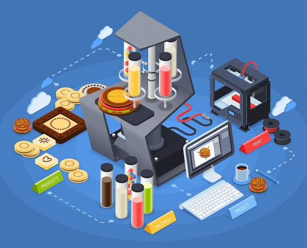 Printing isometric concept
