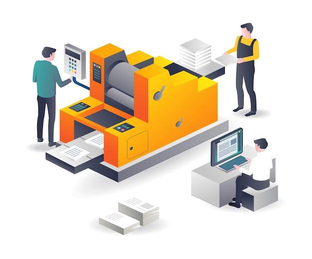 Printing machine operator and graphic design