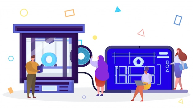 Printing technology in  style  illustration.