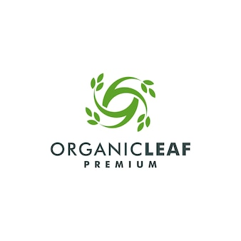 Printorganicの葉のロゴデザインベクトル。自然の葉